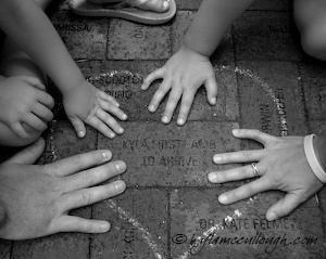 Family and Kyla's Brick